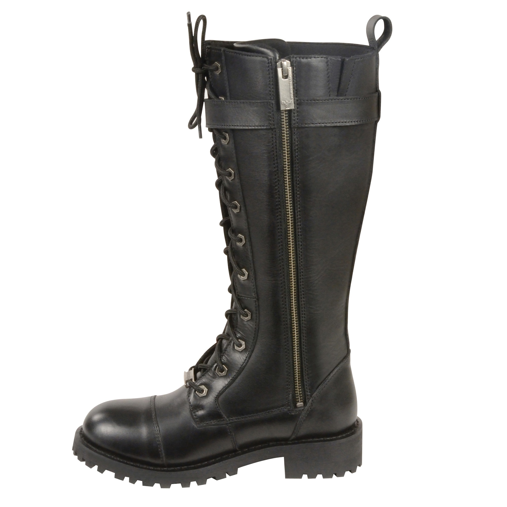 Women S 14 Inch Lace To Toe High Rise Leather Boot W Calf
